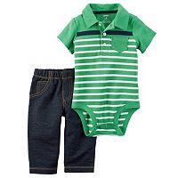 Baby Boy Carter's Polo Bodysuit & Pants Set