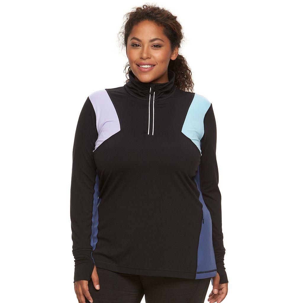 Plus Size FILA SPORT¨ Colorblock Quarter-Zip Jacket