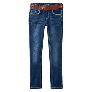 Girls 7-16 & Plus Size Mudd® Belted Faded Skinny Jeans