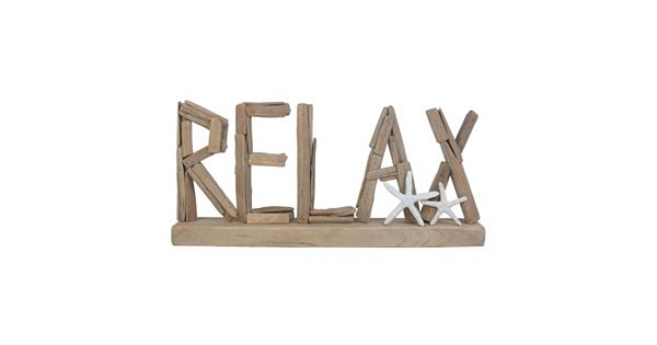 Sonoma Goods For Life Quot Relax Quot Wood Sign Table Decor