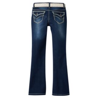 Girls 7-16 & Plus Size Mudd® Belted Faded Bootcut Jeans