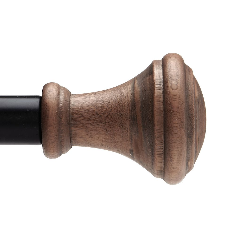 Umbra Wood Urn Curtain Rod