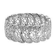 1928 Openwork Crescent Stretch Bracelet