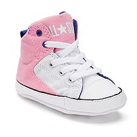 Baby Converse Chuck Taylor All Star First Star High Street Glittery Crib Shoes