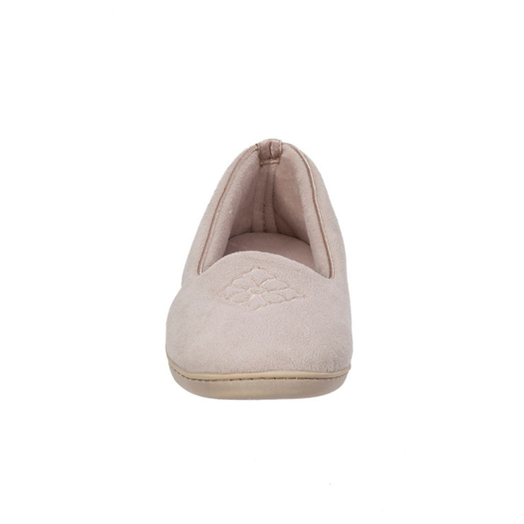 Dearfoams Velour Closed-Back Slippers