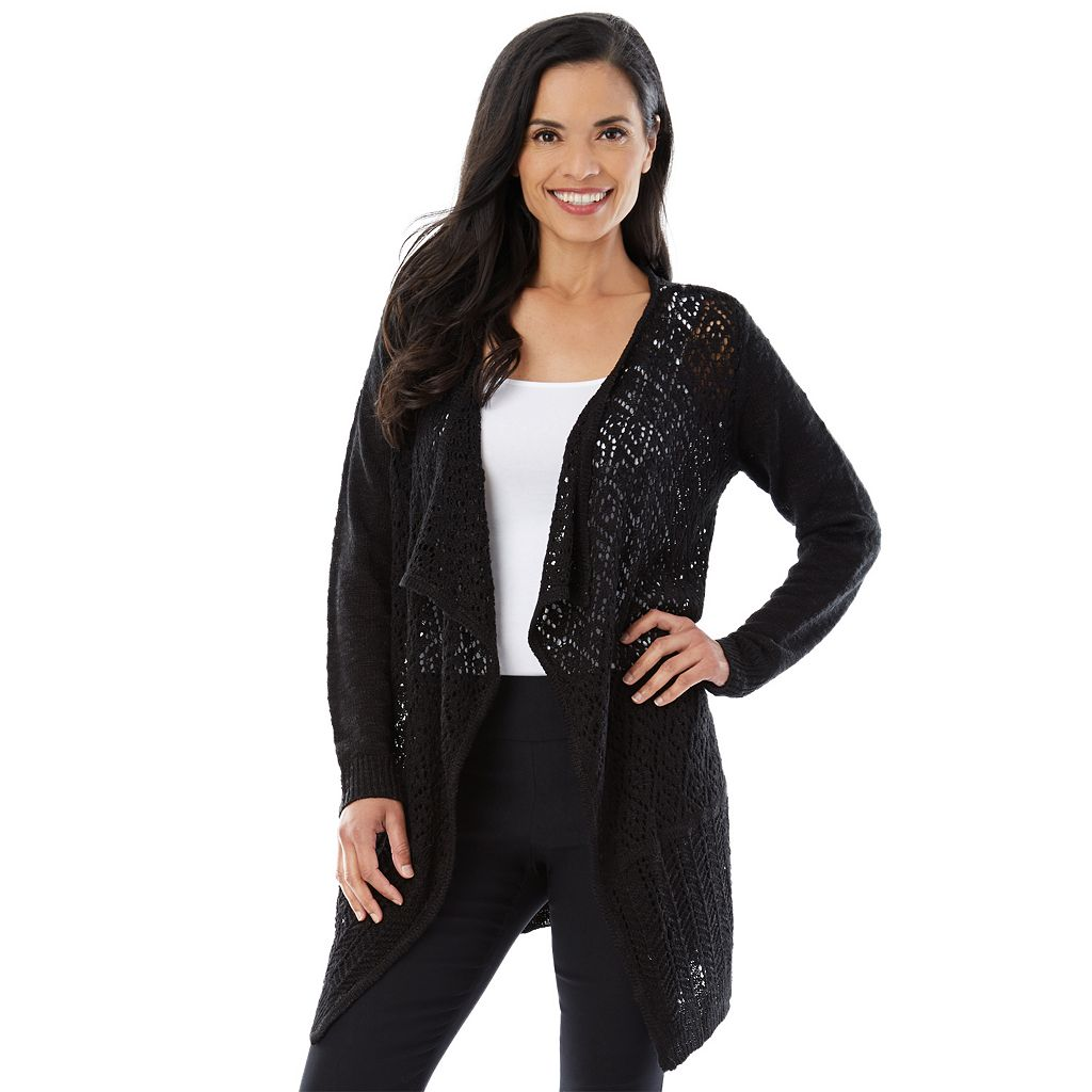 Women's AB Studio Pointelle Cardigan