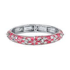 1928 Pink Leaf Stretch Bracelet