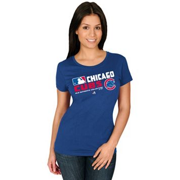 Women's Majestic Chicago Cubs AC Team Choice Tee
