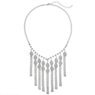 Leaf Fringe Statement Necklace