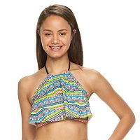 Mix and Match High-Neck Flounce Bikini Top