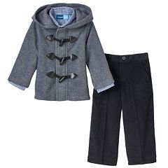 Toddler Boy Great Guy Fleece Toggle Jacket, Shirt & Pants Set