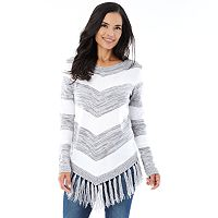 Women's AB Studio Tassel V-Neck Sweater