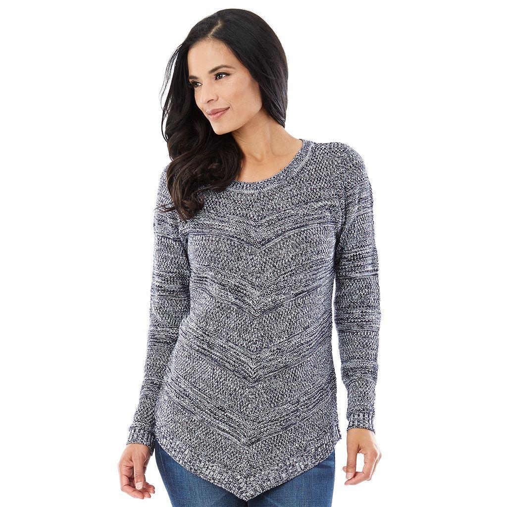 Women's AB Studio Marled Crewneck Sweater