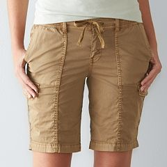Womens Beig/khaki Bermuda Shorts - Bottoms, Clothing | Kohl's