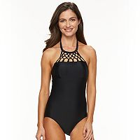 Women's Croft & Barrow® Macramé One-Piece Swimsuit