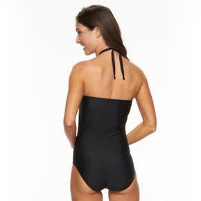 Women's Croft & Barrow® Macramé One-Piece Swimsuit