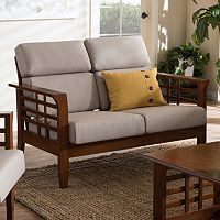 Baxton Studio Larissa Cushioned Loveseat