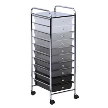 Honey-Can-Do 10 Drawer Shaded Storage Cart