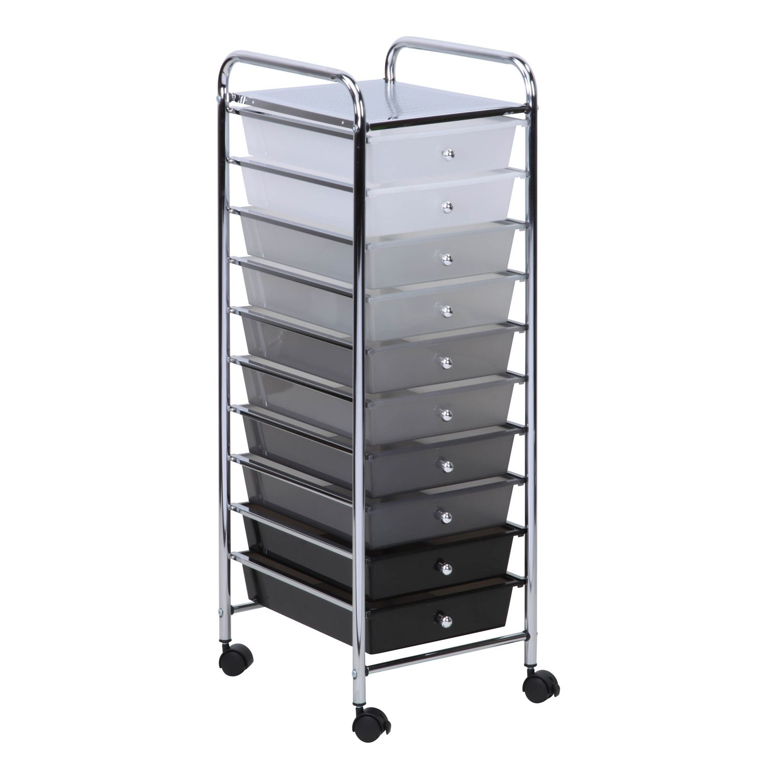 Honey Can Do 10 Drawer Shaded Storage Cart