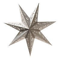 LumaBase 7-Point Star Paper Lantern 3-piece Set