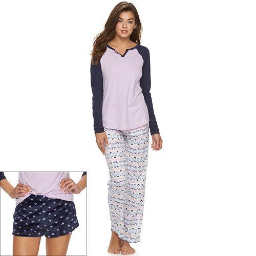 Juniors' SO® Pajamas: 3-Piece Pajama Set