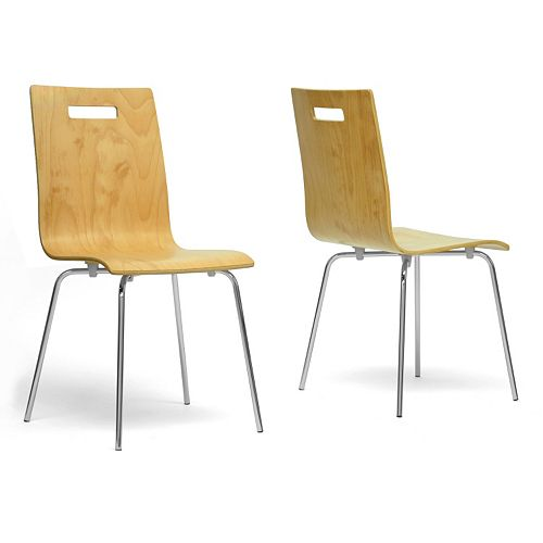 Baxton Studio Stockholm Modern Dining Chair 2-piece Set