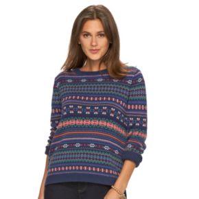 Women's Chaps Fairisle Crewneck Sweater