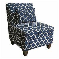 HomePop Charlotte Accent Chair & Throw Pillow 2 pc Set