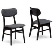Baxton Studio Debbie Mid-Century Dining Chair 2 pc Set