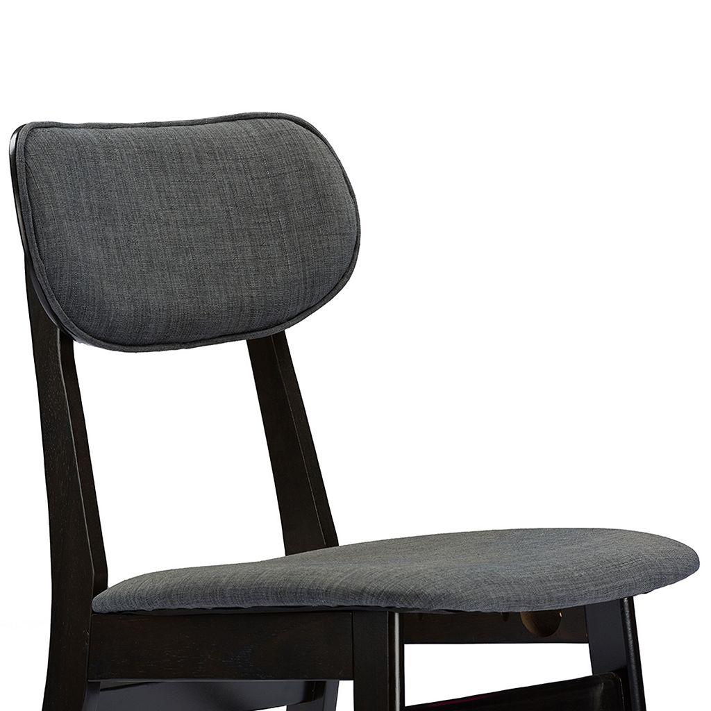 Baxton Studio Debbie Mid-Century Dining Chair 2-piece Set