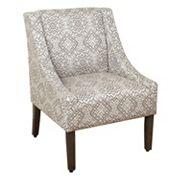 HomePop Geometric Velvet Accent Chair