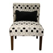 HomePop Contemporary Accent Chair & Throw Pillow 2 pc Set