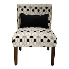 HomePop Contemporary Accent Chair & Throw Pillow 2-piece Set