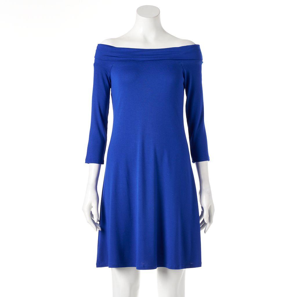 Women's Apt. 9® Off-the-Shoulder Shift Dress