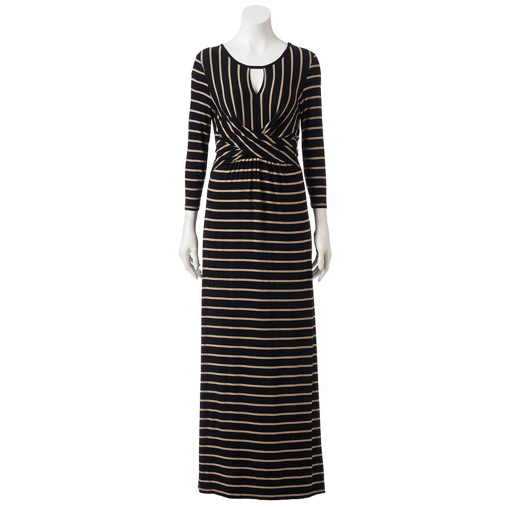 Women's Apt. 9® Striped Twist Maxi Dress