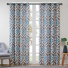 Madison Park Mika Ikat Window Curtain