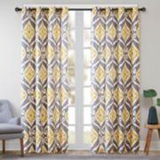 Madison Park 1-Panel Mika Ikat Window Curtain