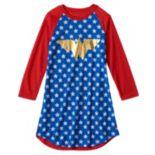Girls 4-12 DC Comics Wonder Woman Raglan Nightgown