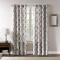 Madison Park Ivy Metallic Ogee Blackout Curtain