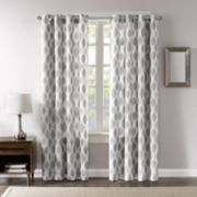 Madison Park Blackout 1-Panel Ivy Metallic Ogee Window Curtain