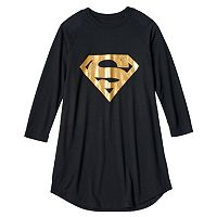 Girls 4-12 DC Comics Gold Supergirl Nightgown