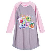 Girls 4-12 Shopkins Smarty Phone Raglan Nightgown