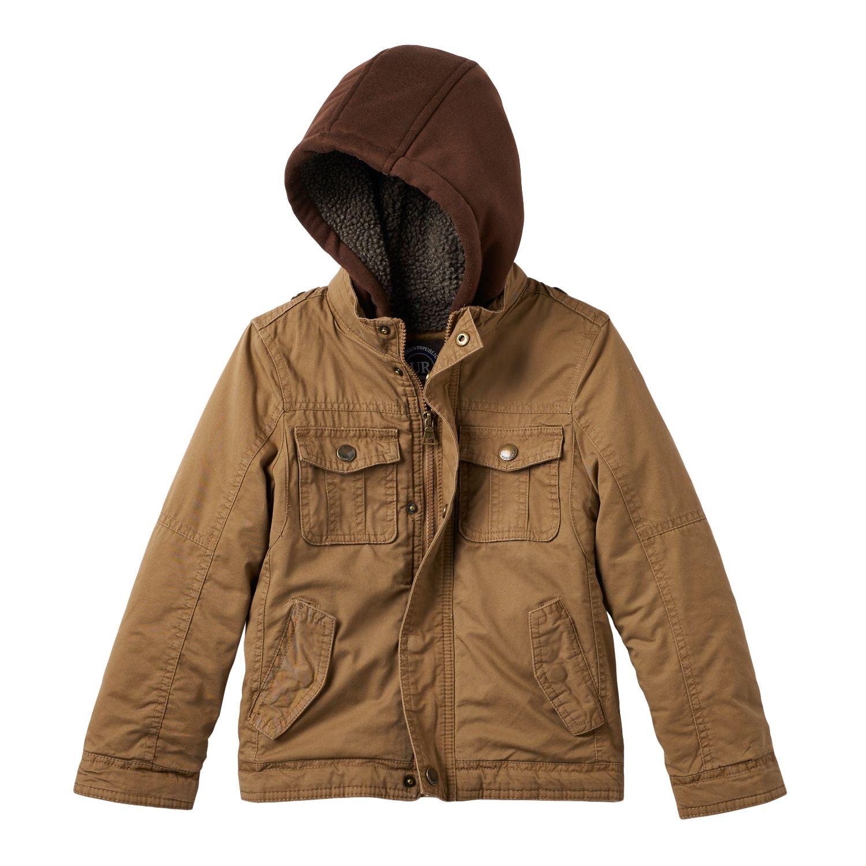 Boys Brown Coats Y5cZzJ