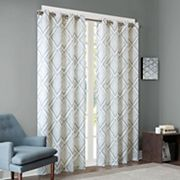 INK+IVY Bas Etched Patterned Window Curtain
