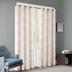 INK+IVY 1-Panel Bas Etched Patterned Window Curtain