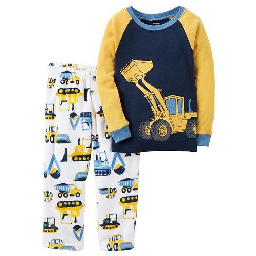 b85a31035 Toddler Boy Carter's Graphic Tee & Fleece Pants Pajama Set