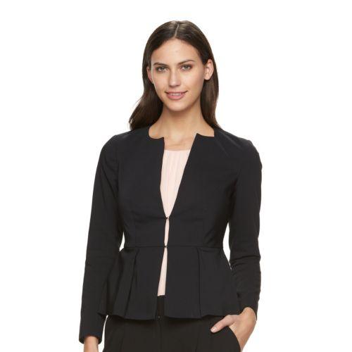 Petite Apt. 9® Torie Collarless Peplum Jacket
