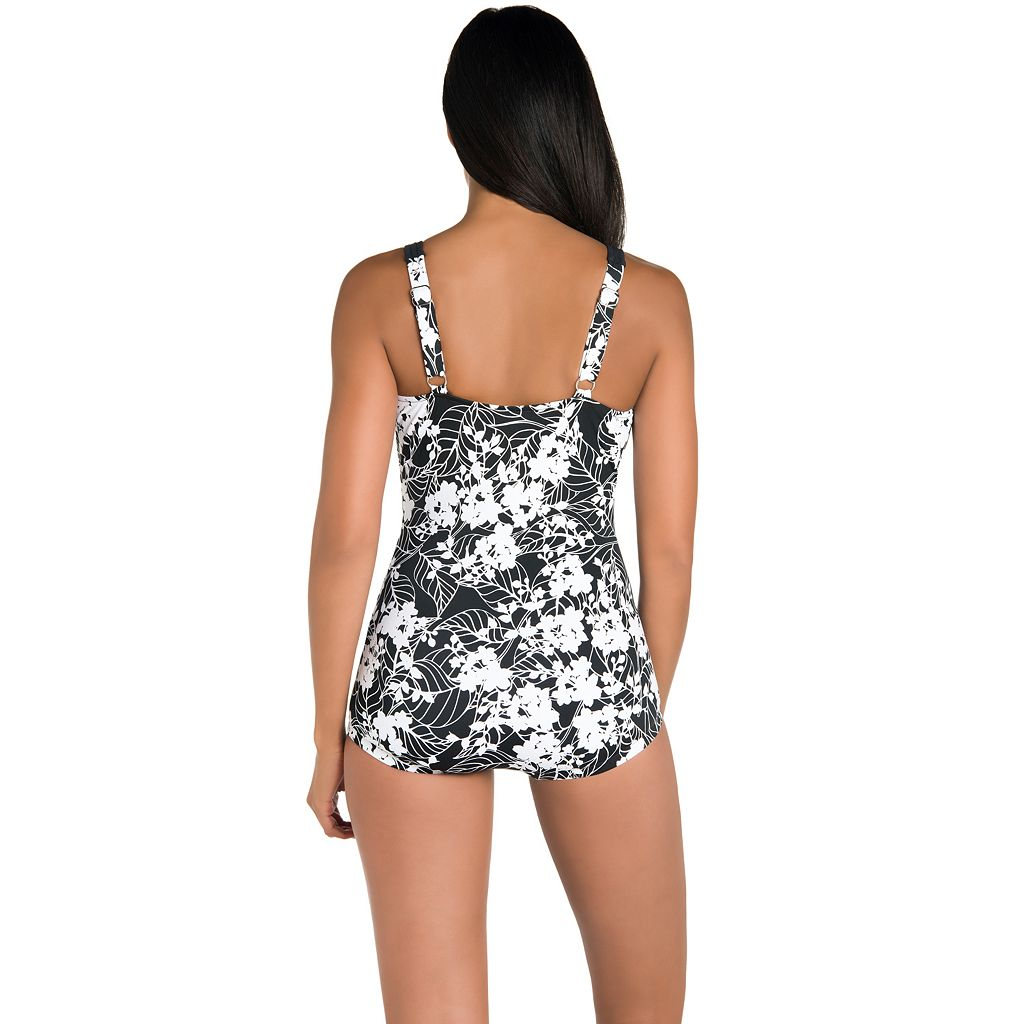 Women's Upstream Tummy Slimming Floral One-Piece Swimsuit
