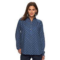 Women's Chaps Floral Henley Shirt