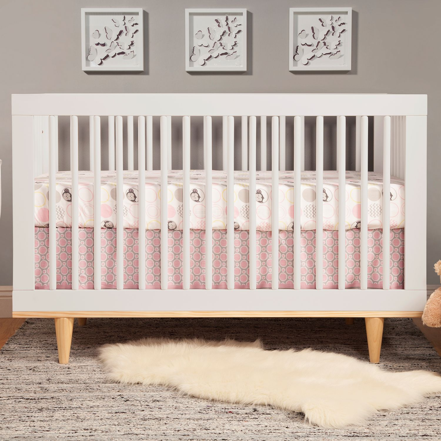 Charmant Baby Mod Marley 3 In 1 Convertible Crib